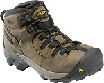 Men's KEEN Slate Black/Blue Steel Toe Hiker