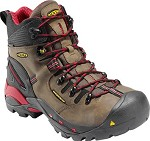 Men's KEEN Bison/Red Waterproof Steel Toe Hiker