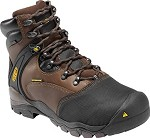 Men's KEEN Brown/Slate 6 Inch  Black Waterproof Metatarsal Guard