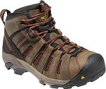Men's KEEN Brown/Burnt Henna  Leather/ Mesh Steel Toe Hiker