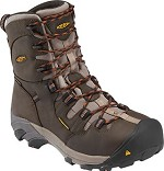 Men's KEEN Dark Brown Waterproof Steel Toe 8 Inch Hiker