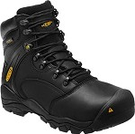 Men's KEEN Black 6 Inch Waterproof Boot