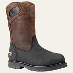 Men's Timberland  Powerwelt Wellington Steel Toe Slip-On Boot Rancher Brown Oiled and Ever-Guard�