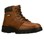 Men's Skechers Brown Relaxed Fit  Steel Toe 6 Inch Boot