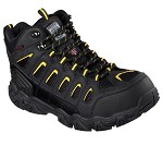 Men's Skechers Black/Yellow Waterproof Steel Toe Hiker