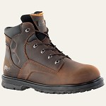 "Men's Timberland Brown 6"" Steel Toe Boot"
