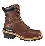 Carhartt Redwood Brown Waterproof Steel Toe Logger