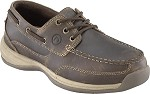 Women's Rockport  Brown Steel Toe 3 Eyelet Boat Shoe