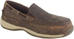 Men's Rockport  EH Brown Slip-On Steel Toe Boat Shoe