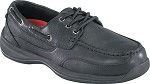 Men's Rockport  ESD Black  Moc Safety Toe Boat  Shoe