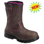 Women's Avenger Brown/Pink Waterproof Composite Toe Wellington