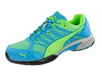 Women's Puma Blue/Lime Low Steel Toe SD Athletic