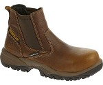 Womens Caterpillar Brown Waterproof Composite Toe  Pull-On