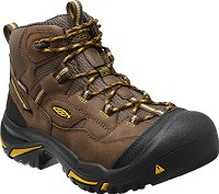 Men's KEEN Cascade Brown/ Tawny Olive Waterproof  Made in America Steel Toe Boot