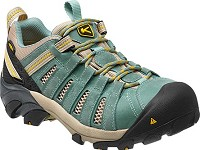 Women's KEEN Mineral Blue/Ceylon Yellow Steel Toe Flint  Low