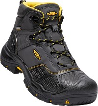 Men's KEEN Raven/Black Synthetic Waterproof Steel Toe Hiker
