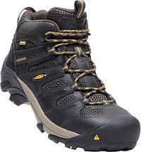 Men's KEEN Raven/Black Leather/ Mesh Waterproof Steel Toe Hiker