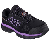 Women's Skechers Black/Purple SD Alloy Safety Toe Athletic