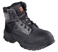 Men's Skechers Black Waterproof Steel Toe 6 Inch Boot