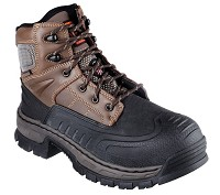 Men's Skechers Brown Waterproof Steel Toe 6 Inch Boot