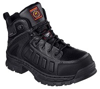 Men's Skechers Black  Waterproof Comp Toe 6 Inch Boot