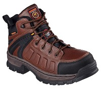 Men's Skechers Brown Waterproof Comp Toe 6 Inch Boot