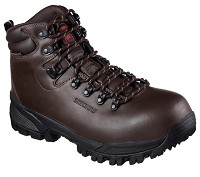 Men's Skechers Brown Waterproof Comp Toe Hiker
