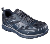 Men's Skechers Navy Grey Safety Toe Puncture Resistant SR Athletic