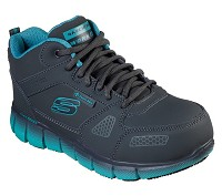 Women's Skechers Grey/Teal Alloy SD Safety Toe Hiker
