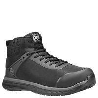 Men's Timberland Black Composite Toe  Mid High