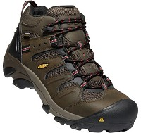 Men's KEEN Brown Leather/ Mesh Waterproof Steel Toe Hiker