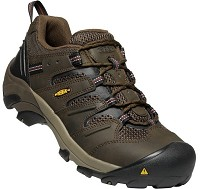 Men's KEEN Brown Leather/ Mesh Steel Toe
