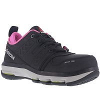 Women's Reebok Black/Pink Alloy Toe EH Athletic