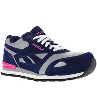 Women's Reebok ESD Blue/Grey/ Pink Composite Toe Retro Jogger