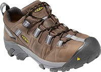 Men's KEEN Brown Steel Toe Hiker Low