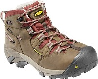 Women's KEEN Black Olive/ Madder Brown Steel Toe Hiker