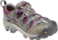 Women's KEEN Monument/Amaranth Steel Toe Hiker Low