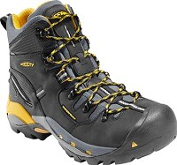 Men's KEEN Black Waterproof Steel Toe Hiker