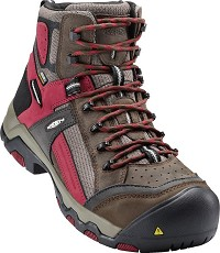 Men's KEEN Cascade Brown/ Red Dahlia Waterproof CompToe Hiker