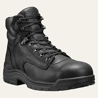 Timberland  Black 6 Inch Titan Alloy Toe Boot
