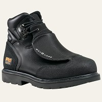 Men's Timberland  Black  Steel Toe 6 Inch Metatarsal Guard