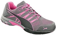 Women's Puma Grey/Pink Low Steel Toe SD Athletic