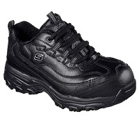 Women's Skechers Black Alloy Safety Toe Athletic