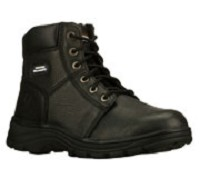 Men's Skechers Black Relaxed Fit  Steel Toe 6 Inch Boot