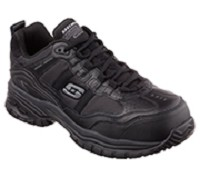 Men's Skechers Relaxed Fit Black Composite Toe SR Athletic