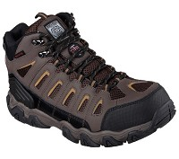 Men's Skechers Brown Waterproof Steel Toe Hiker