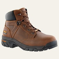 "Timberland  Brown 6"" Waterproof Alloy Safety Toe Boot"