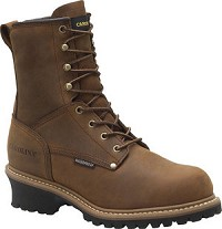 Men's Carolina Safety Toe  8 Inch  Waterproof  Insulated Logger