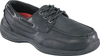 Women's Rockport  ESD Black  Moc Safety Toe Boat  Shoe