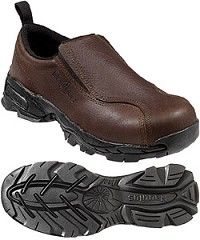 Men's Nautilus Brown Steel Toe Slip-On